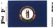 Kentucky State Flag Vinyl Flag Decal