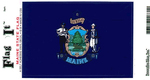 Maine State Flag Vinyl Flag Decal