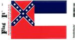 Mississippi State Flag Vinyl Flag Decal