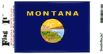 Montana State Flag Vinyl Flag Decal