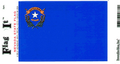 Nevada State Flag Vinyl Flag Decal