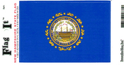 New Hampshire State Flag Vinyl Flag Decal