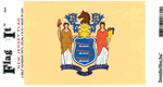 New Jersey State Flag Vinyl Flag Decal