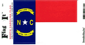 North Carolina State Flag Vinyl Flag Decal