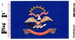 North Dakota State Flag Vinyl Flag Decal