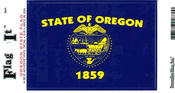 Oregon State Flag Vinyl Flag Decal