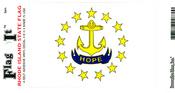 Rhode Island State Flag Vinyl Flag Decal