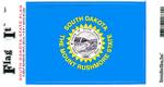 South Dakota State Flag Vinyl Flag Decal