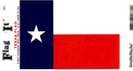 Texas State Flag Vinyl Flag Decal