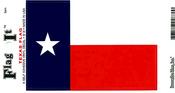 Texas State Flag Vinyl Flag Decal