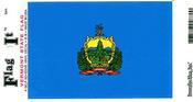 Vermont State Flag Vinyl Flag Decal