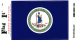 Virginia State Flag Vinyl Flag Decal