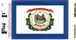 West Virginia State Flag Vinyl Flag Decal