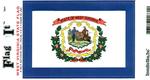 West Virginia State Flag Vinyl Flag Decal
