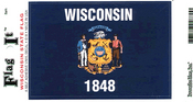 Wisconsin State Flag Vinyl Flag Decal