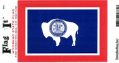Wyoming State Flag Vinyl Flag Decal