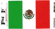 Mexico Flag Vinyl Flag Decal