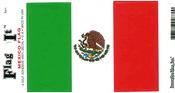 Mexico Flag Vinyl Flag Decal
