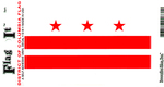 District Of Columbia Vinyl Flag Decal
