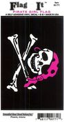 Pirate Girl Vinyl Flag Decal
