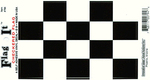 Checkered Vinyl Flag Decal