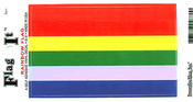 Rainbow Flag Vinyl Flag Decal