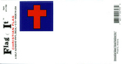 Christian Flag Vinyl Flag Decal
