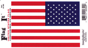 United States Flag Static Cling Decal