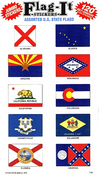 Assorted U.S. State Flags