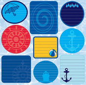 H2O Diecut Journal Sticker Sheet