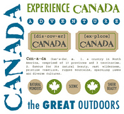 Canada Experience Sticker Sheet