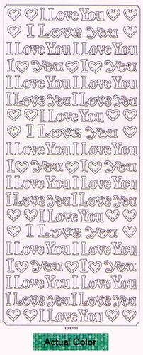I Love You Green HG Peel-Offs - Best Creation