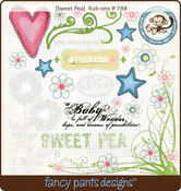 Sweet Pea Rub-Ons by Fancy Pants
