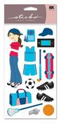 Sporty Girl Sticko Stickers