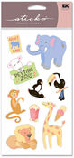 Day At The Zoo Vellum Sticko Stickers