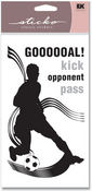 Boys Soccer Sticko Silhouette Stickers