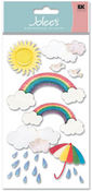 Rainbow Vellum  Stickers - Jolee's Boutique