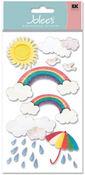 Rainbow Vellum  Stickers - Jolee's Boutique