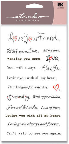 Signatures Phrases Love Your Friend Stickers
