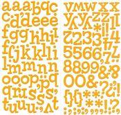 Orange Sprinkles Vinyl Thickers by American Crafts