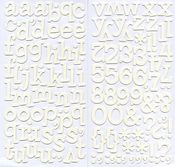 White Sprinkles Vinyl Thickers by American Crafts