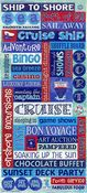 Cruise Words Glitter Stickers - Sandylion