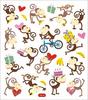 Birthday Monkeys Stickers