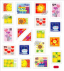 Colorful Birthday Stamps Stickers