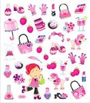 Girl Stuff Stickers