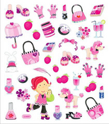 Girl Stuff Stickers