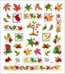 Fall Foliage Stickers