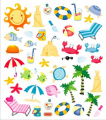 At The Beach Stickers