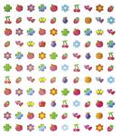 Fruit & Flowers Stickers