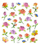 Butterflies & Roses Stickers